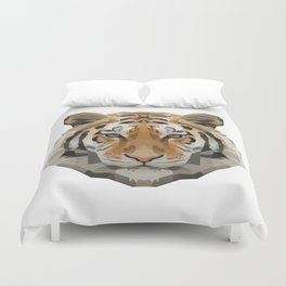 Geometrical Tiger Head Silhouette Duvet Cover