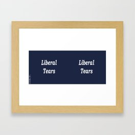 Liberal Tears - Blue Framed Art Print