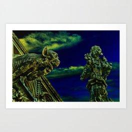 Vienna Gargoyles Fine Art Print Art Print