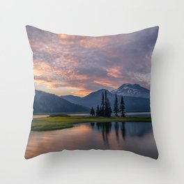 Sparks at South Sister Throw Pillow