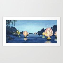 Lanterns On The Lake Art Print