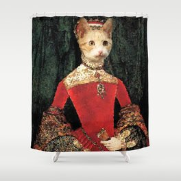 Royalty cat Shower Curtain