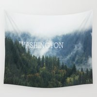 washington Wall Tapestries featuring WASHINGTON by shannonfinnphotography