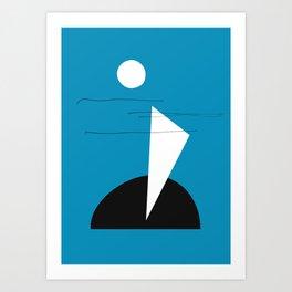 Midnight Sailing Art Print