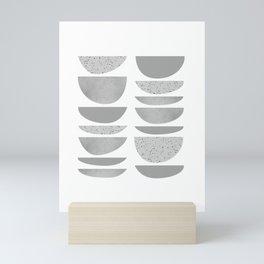 Mid Century Half Moons Mini Art Print