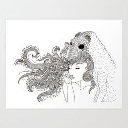 skinned sheep Art Print