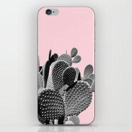 Bunny Ears Cactus on Pastel Pink #cactuslove #tropicalart iPhone Skin