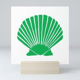 Green Seashell Mini Art Print
