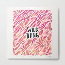 Wild Thing – Pink Ombré & Black Palette Metal Print