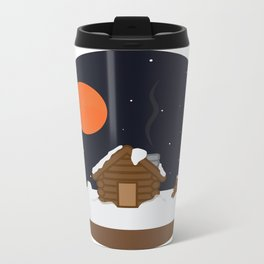 Cabin In The Snow Metal Travel Mug