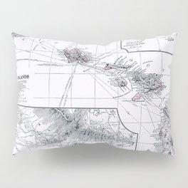 Vintage Hawaii Map 1899 Pillow Sham