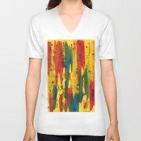 camo V-neck T-shirts featuring Camo by Dariush Nejad