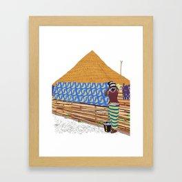 Washing Time Framed Art Print