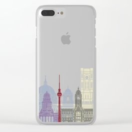 Berlin skyline poster Clear iPhone Case