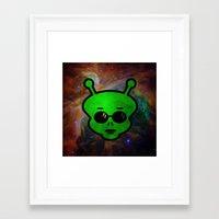 alien Framed Art Prints featuring Alien by Spooky Dooky