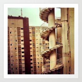 Niemeyer. Saö Paùlo. Art Print