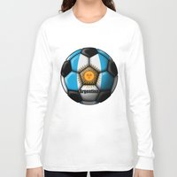 argentina Long Sleeve T-shirts featuring Argentina Ball by kuuma