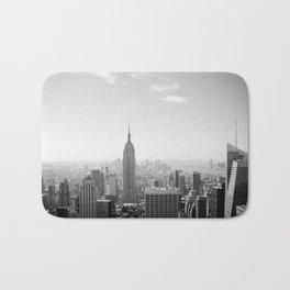 Manhattan - Empire State Building Panorama | B/W Bath Mat