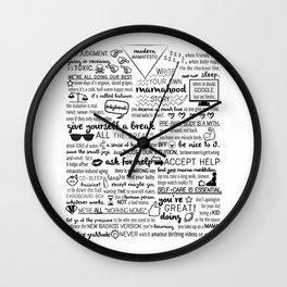 modern mamafesto  Wall Clock