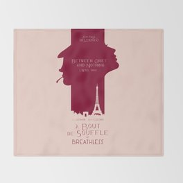 Breathless (À bout de souffle) minimal movie poster, Jean-Luc Godard, classic french film, new wave Throw Blanket