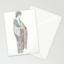 Woman dressing Stationery Cards
