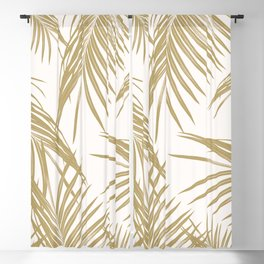Gold Palm Leaves Dream #1 #tropical #decor #art #society6 Blackout Curtain