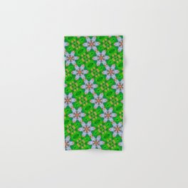 abstract daisy pattern background Hand & Bath Towel