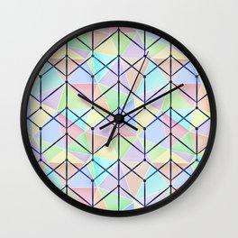 Colorful geometric polygonal pattern. Wall Clock