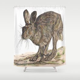 Hare II Shower Curtain