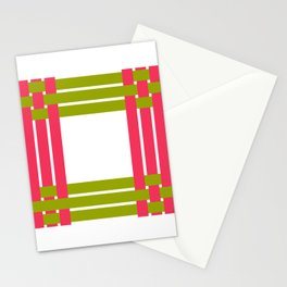 The intertwining pink and green ribbons Stationery Cards