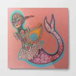 indian goddess mermaid Metal Print
