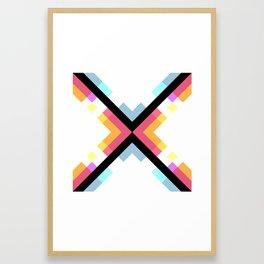 Abstract Retro Pattern 05 Framed Art Print