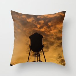 Brooklyn Water Tower Throw Pillow