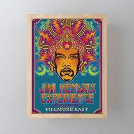 1968 Jimi Hendrix Experience Fillmore East San Francisco Concert Poster Framed Mini Art Print