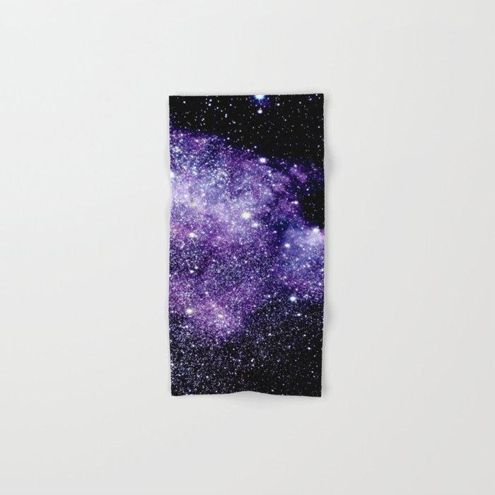 Galaxy Stars Violet Blue Hand & Bath Towel