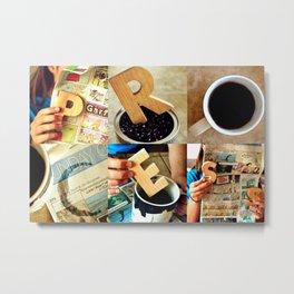 "Woodblock Series, ""Process"" Metal Print"