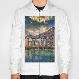 Riverside Innsbruck, Austria Photographic Hoody