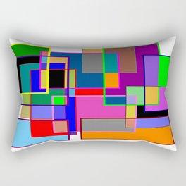 Colour collage white Rectangular Pillow