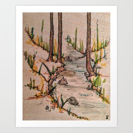 The Creek of The Unknown Art Print