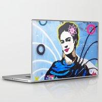 frida kahlo Laptop & iPad Skins featuring Frida Kahlo by Paola Gonzalez