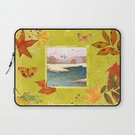 Fall Citron Leaves Laptop Sleeve