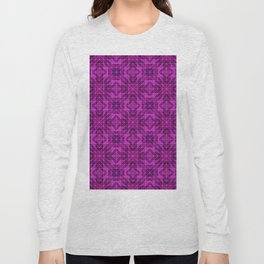 Mosaic in Pink and Puple Long Sleeve T-shirt