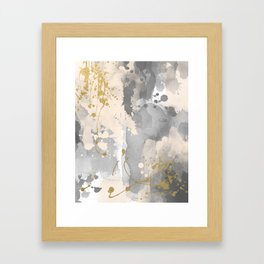Gray abstract painting Framed Art Print