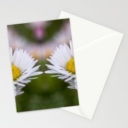 Colourful mirroring daisy flowers Stationery Cards