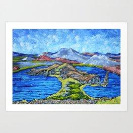 Isla Bartolomé Galapagos Art Print