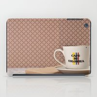 colombia iPad Cases featuring Café de Colombia  by Caroline Mint