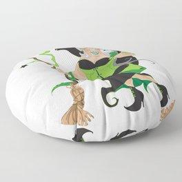 Granny Hex (Green) Floor Pillow
