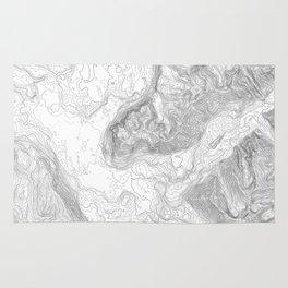 NORTH BEND WA TOPO MAP - LIGHT Rug