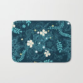 Dark floral delight Bath Mat