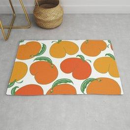 Orange Peaches Butts Rug